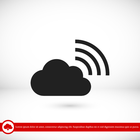 Black cloud icon, vector best flat icon