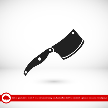 note paper: knife icon, vector best flat icon, EPS