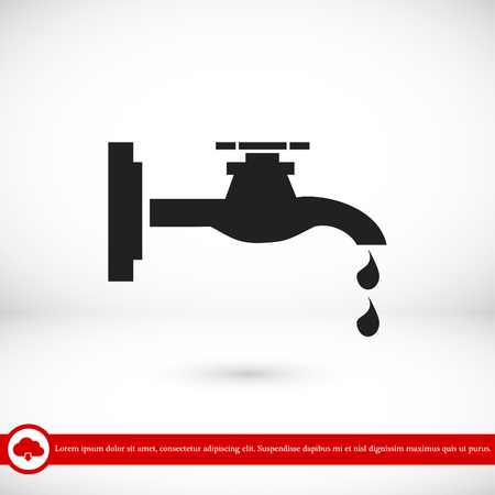 ooze: Faucet icon, vector best flat icon EPS