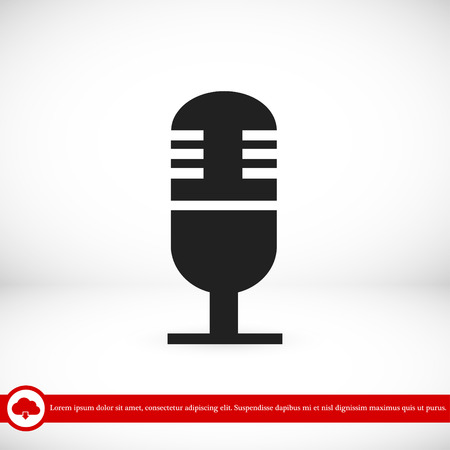 condenser: Microphone icon, vector best flat icon