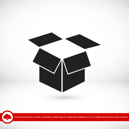 storage box: box vector icon, vector best flat icon, EPS Illustration