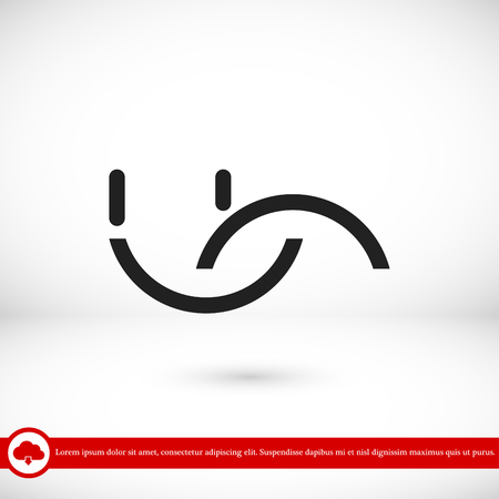smile icon, vector best flat icon, EPS