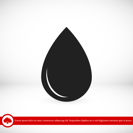 water reflection: black drop icon, vector best flat icon, EPS Illustration