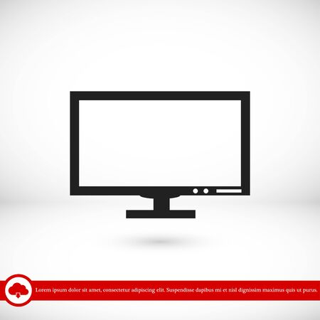 blank screen: Pictograph of computer vector icon, vector best flat icon, EPS Illustration