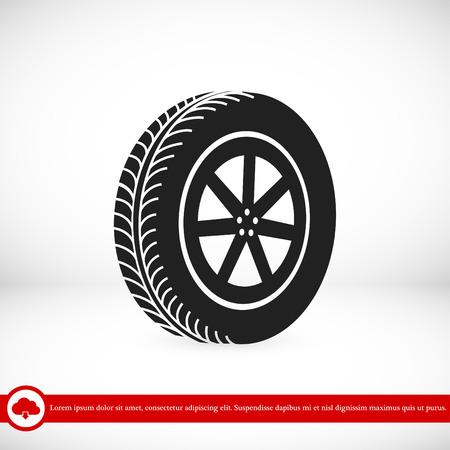aluminium: wheel icon, vector best flat icon, EPS