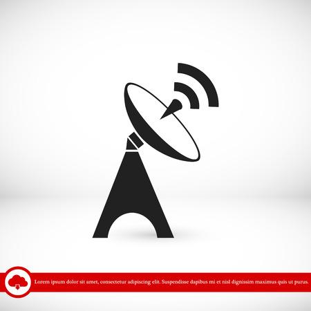 Satellite antenna icon, vector best flat icon, EPS