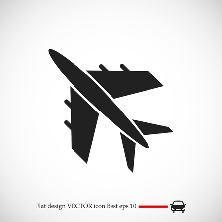 Airplane vector icon, vector best flat icon.