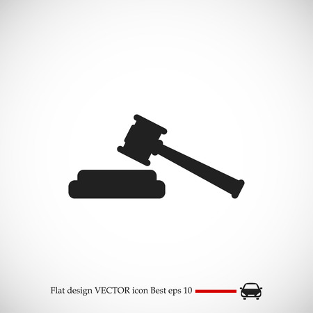 Hammer judge icon, vector best flat icon