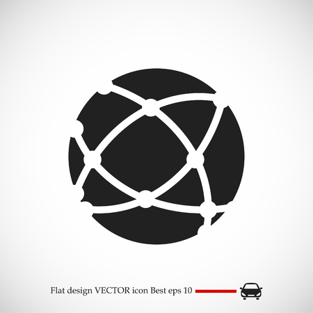 Global technology icon, vector best flat icon, EPS Illustration