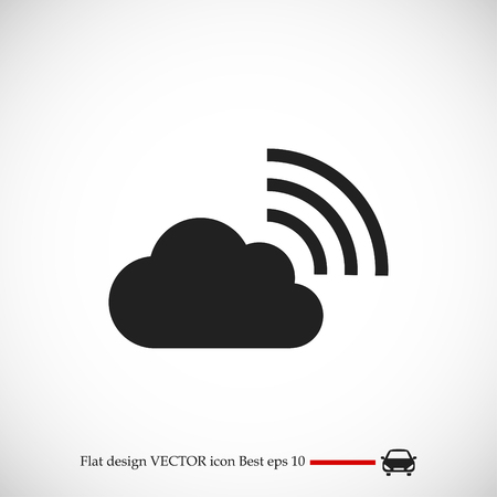 airplay: black cloud icon, vector best flat icon EPS