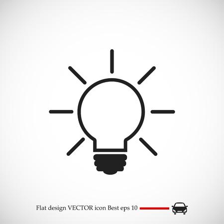 bulb icon, vector best flat icon, EPS 10 Illustration