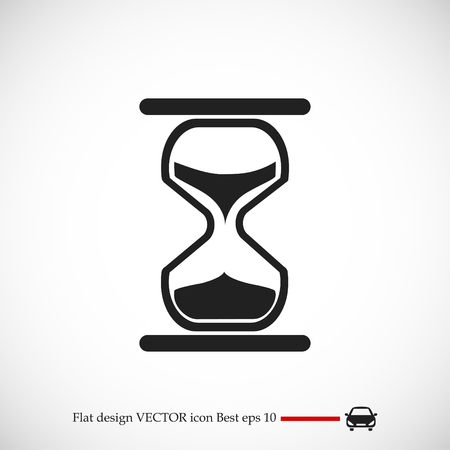 hourglass vector icon, vector best flat icon, EPS Illustration