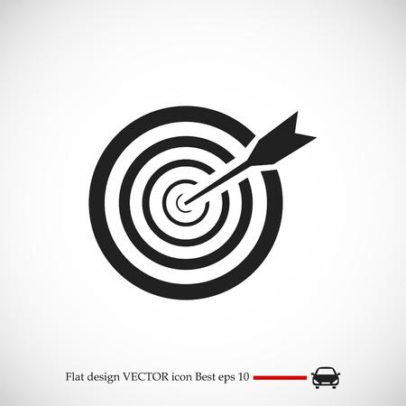 aim icon, vector best flat icon, EPS Illustration