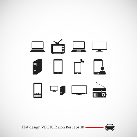 icon: Communication device icons, vector best flat icon, EPS