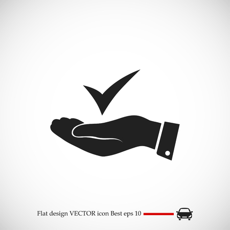 confirm: confirm icon, vector best flat icon, EPS Illustration