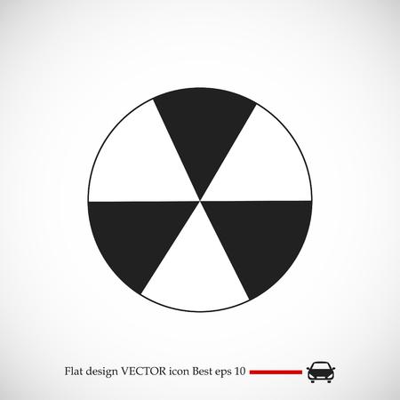 radioactive sign sprayed on metal barrel icon, vector best flat icon, EPS