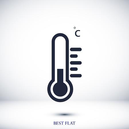 thermometer icon, stock vector illustration flat design style Illustration