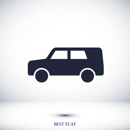 car icon, stock vector illustration flat design style Illustration