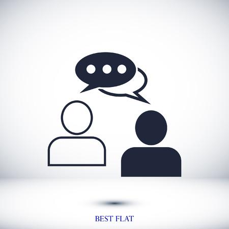 spreken van mensen, de chat-pictogram stock vector illustratie