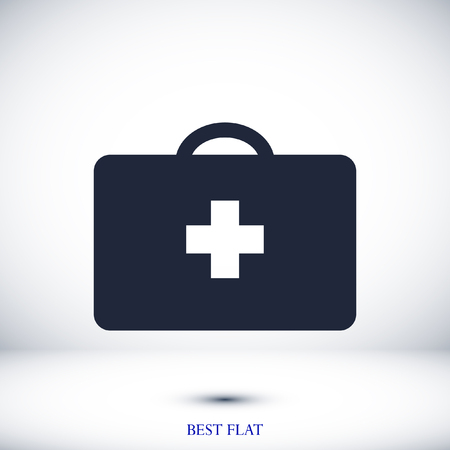 medical bag icon, stock vector illustration flat design style 일러스트