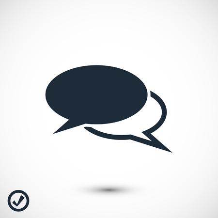 연설 거품 아이콘, 스톡 벡터 일러스트 레이 션 평면 디자인 스타일