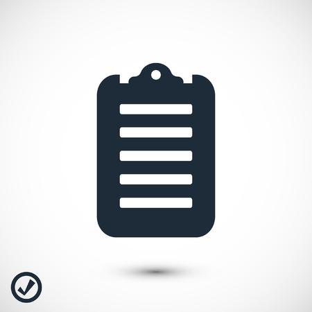 checklist icon, stock vector illustration flat design Reklamní fotografie - 110331157