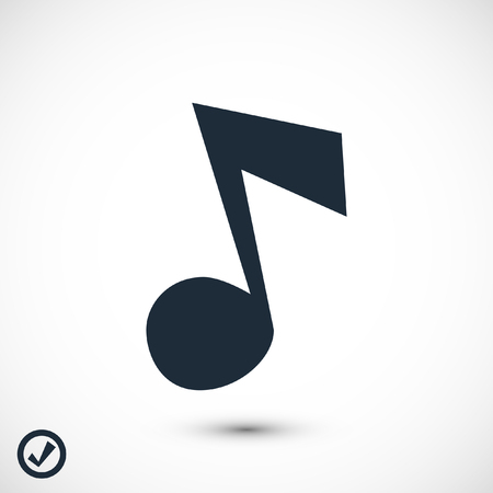 Music icon, stock vector illustration flat design style Vectores