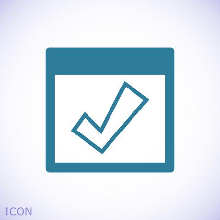 Calendar icon, stock vector illustration flat design style