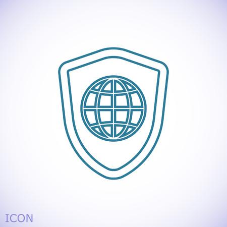 shield icon, stock vector illustration flat design style
