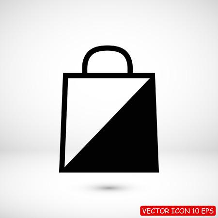 bag icon, stock vector illustration flat design style Illustration