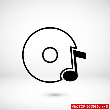 CD icon, stock vector illustration flat design style