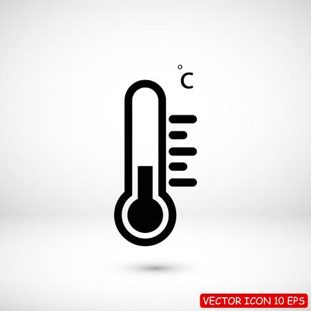 thermometer icon, stock vector illustration flat design style Ilustracja