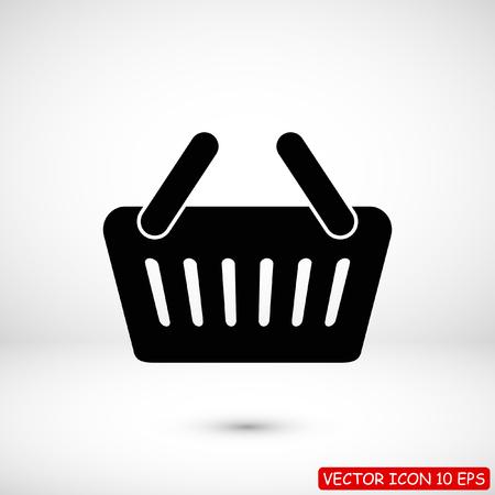 basket icon, stock vector illustration flat design style 일러스트