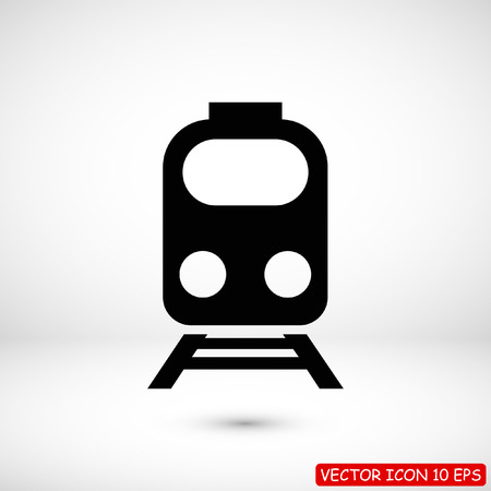 train icon, stock vector illustration flat design style