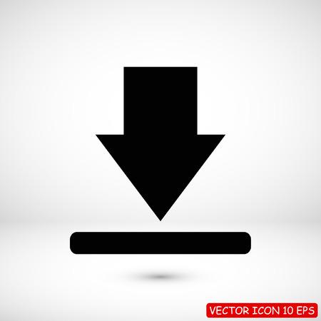 download icon,  stock vector illustration flat design