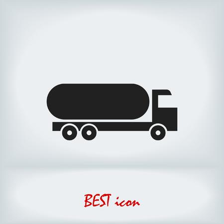 Truck icon, stock vector illustration flat design style