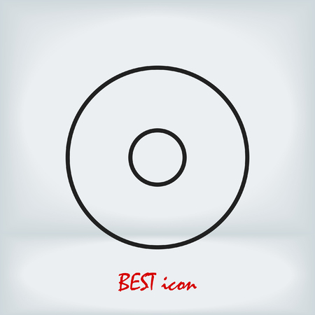 CD icon, stock vector illustration flat design style
