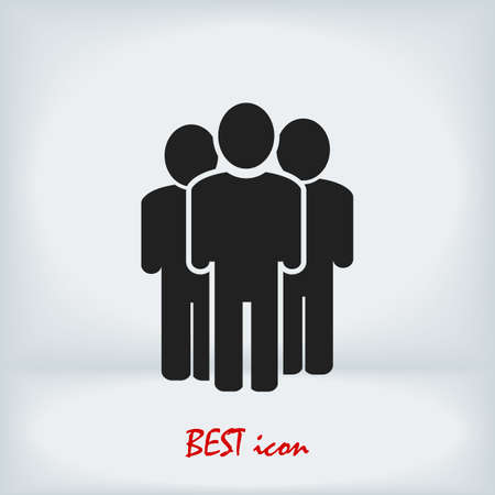 people icon, stock illustration flat design style Vectores