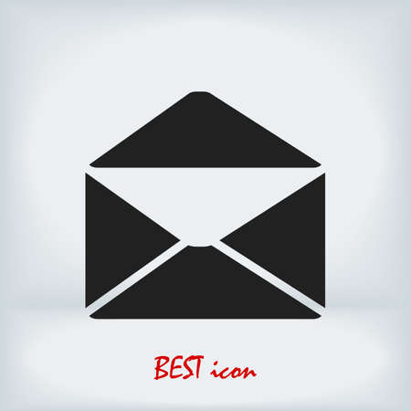 email icon, stock illustration flat design style