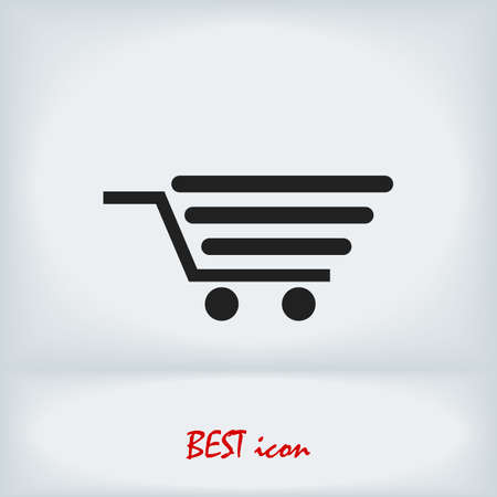shopping icon, stock illustration flat design style