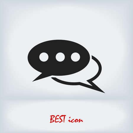 Speech bubbles icon, stock illustration flat design style