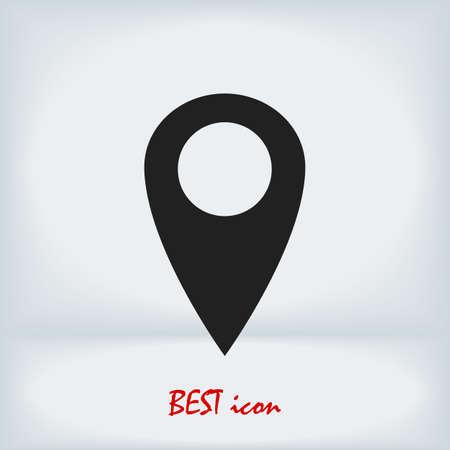 location vector icon, stock illustration flat design style Vectores
