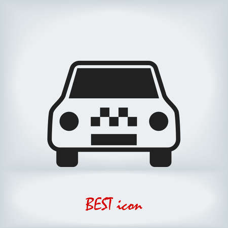 Taxi icon, stock illustration flat design style