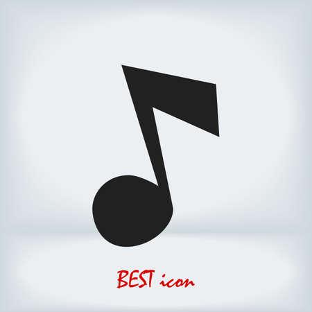 Music icon, stock illustration flat design style Vectores