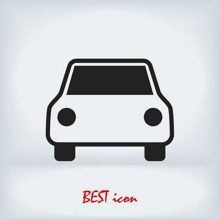car icon, stock illustration flat design style