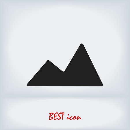 Mountain icon, stock illustration flat design style
