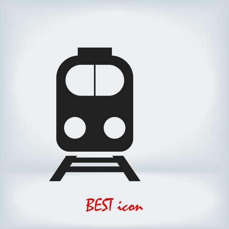train icon, stock illustration flat design style Vector Illustratie
