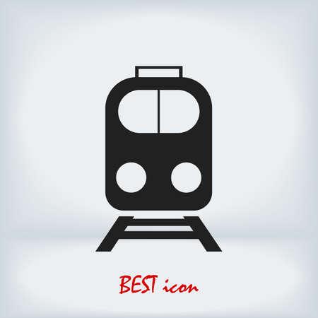 train icon, stock illustration flat design style