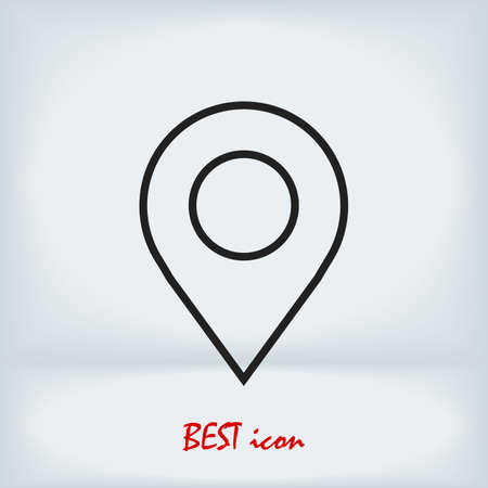 Map pointer flat icon, stock illustration flat design style