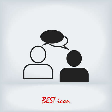 speaking of people, the chat icon stock illustration Vectores